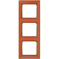 Рамка 3 Постовая Вертикальная Legrand Valena Терра (770017), фото 1
