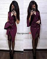 Платье жакет женское модное на запах с накидкой разные цвета Smmk3096, фото 1