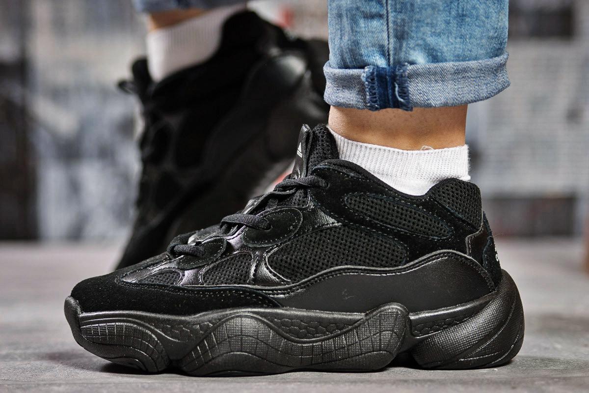 Кроссовки женские Adidas Yeezy 500, черные (15471) размеры в наличии ► [  37 38 41  ]