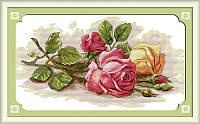 Набор для вышивки крестом Идейка Цветные розы (ide_H091) 45 х 29 см, фото 1