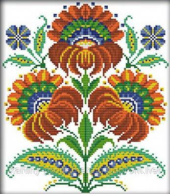 Набор вышивка крестом Идейка Украинские узоры (ide_H270) 34 х 37 см