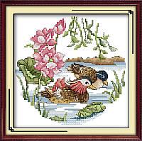 Вышивание крестом Идейка Утки-мандаринки (ide_D054) 33 х 32 см