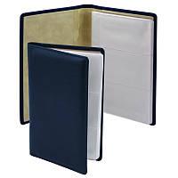 Визитница Brunnen 96 визиток 125х200 мм кожа синий LaFontaine (10-642 5530)