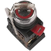 Переключатель АKS-22 черный с ключом на 2 фиксир.положения I-O 1з+1р ИЭК