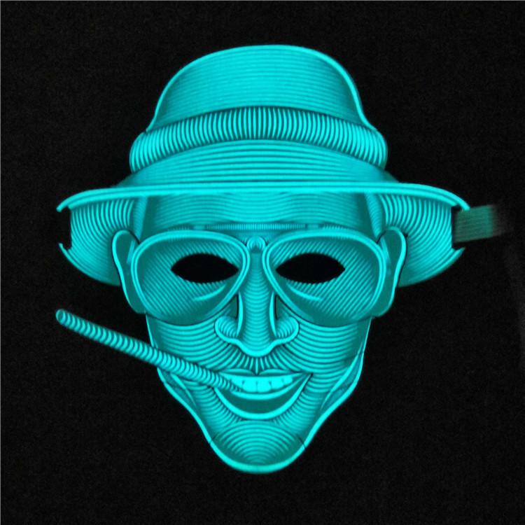 Маска светящаяся под музыку! Звуковая светодиодная маска Страх и ненависть Лас-Вегаса