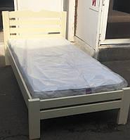 Кровать деревянная Слоновая кость Arngold 90х200