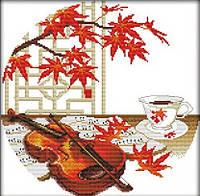 Вышивание крестом Идейка Осенняя музыка (ide_J012) 38 х 38 см