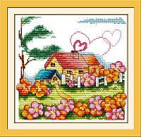Набор для вышивки крестом Идейка Сельский домик (ide_K062) 34 х 33 см