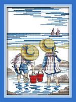 Вышивание крестом Идейка Игры на море (ide_K209) 28 х 35 см, фото 1