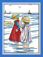 Набор для вышивки крестом Идейка Прогулка по морю (ide_K210) 28 х 35 см
