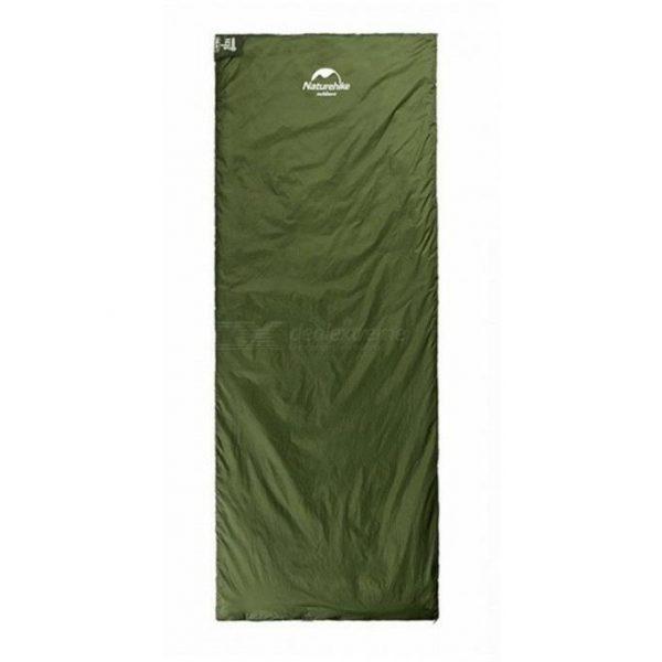 Спальный мешок Nature Hike MINI ULTRA LIGHT увеличенный 205×85см, вес 1кг, 8-15℃ зеленый