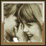 Набор для вышивки крестом Идейка Детские секреты (ide_R354) 35 х 35 см
