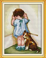 Вышивание крестом Идейка Игра на двоих (ide_R379) 34 х 43 см, фото 1