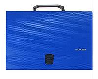 Портфель пластиковый А4 на застежке, 1 отделение, синий