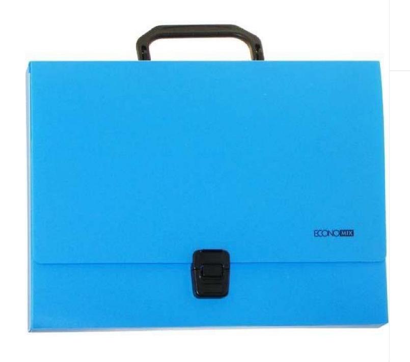 Портфель пластиковый А4 на застежке, 1 отделение, голубой E31607-11