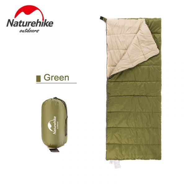 Спальный мешок Nature Nike летний H150 190×75см, вес 0,8кг, 11-15℃ зеленый