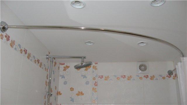Угловые штанги для штор в ванную своими руками 5