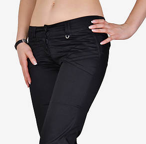 Черные брюки с карманами сзади (W0839) | 6 шт., фото 2