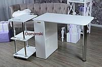 Маникюрный стол + тележка на колёсиках.