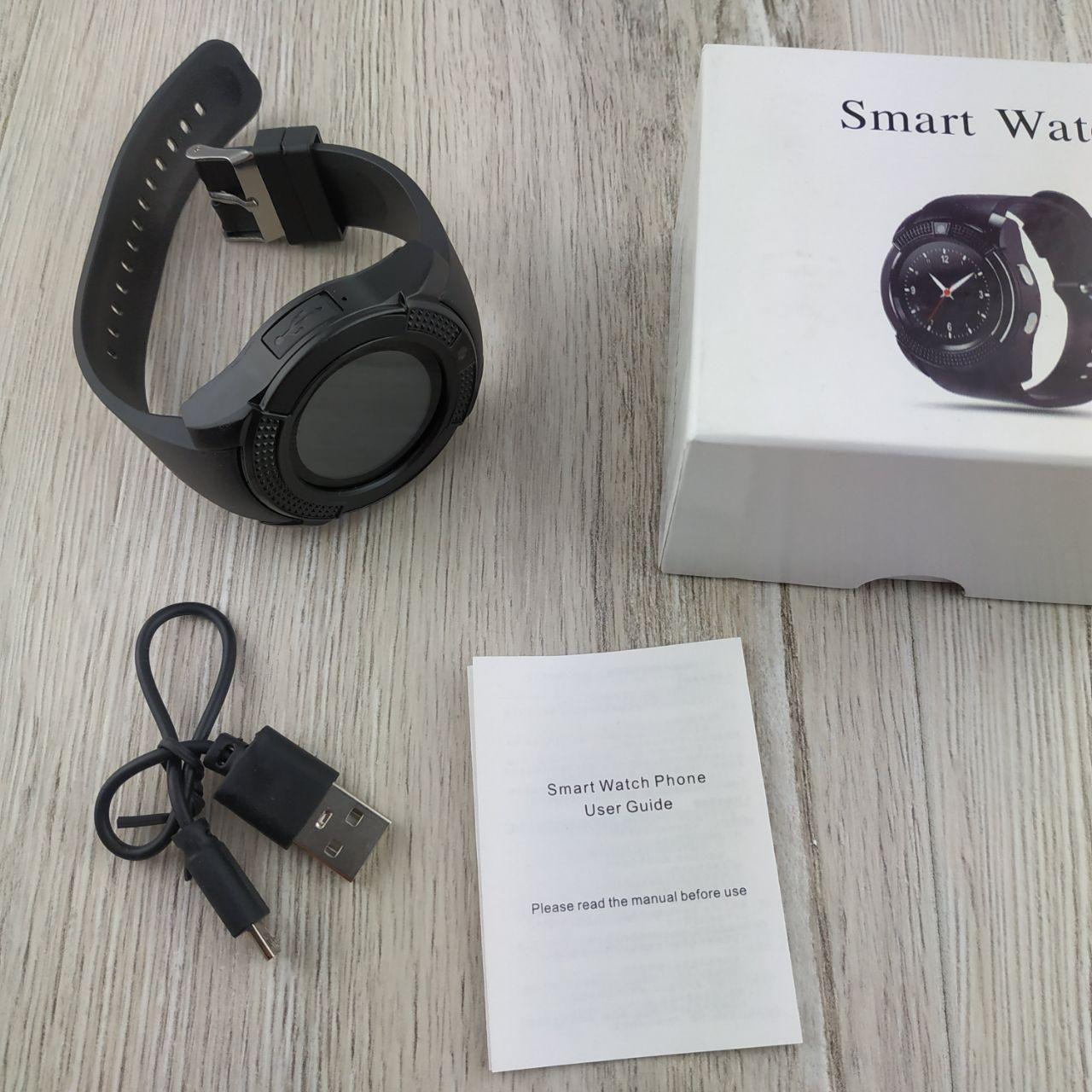 Smart Watch V8 умные смарт часы телефон с громкой связью черные - Bigl ua
