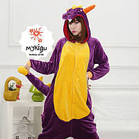 Кигуруми пижама фиолетовый дракон S
