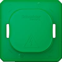 Крышка для защиты выключателей и розеток от загрязнения, зеленый Shneider Merten (MTN3900-0000)