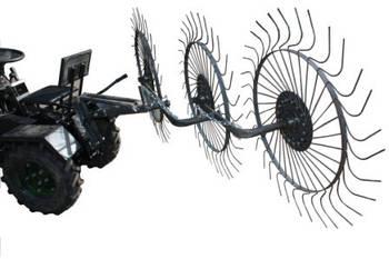 """Грабли ворошилки-солнышко большие тракторные """"Премиум"""" на 3 колеса (1,8м)"""