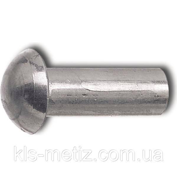 DIN 660 Заклёпка под молоток с полукруглой головкой алюминиевая, стальная, латунная, медная
