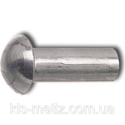 DIN 660 Заклёпка под молоток с полукруглой головкой алюминиевая, стальная, латунная, медная, фото 2