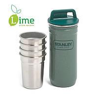 Термос-фляга Stanley 0,59L + 4 рюмки Combo Shot Glass Set
