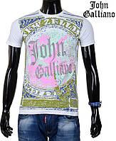 Молодежная летняя футболка от John Galliano,белая