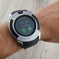 Smart Watch V8 умные смарт часы телефон с громкой связью серебро