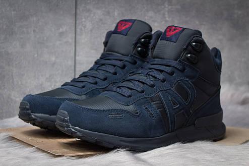 Зимние кроссовки  на меху Armani Jeans, темно-синие (30483) размеры в наличии ► [  41 (последняя пара)  ], фото 2
