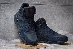 Зимние кроссовки  на меху Armani Jeans, темно-синие (30483) размеры в наличии ► [  41 (последняя пара)  ], фото 3
