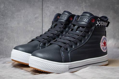 Зимние ботинки  на меху Converse Waterproof, темно-синие (30492) размеры в наличии ► [  41 (последняя пара)  ], фото 2