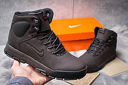 Зимние ботинки  на мехуNike LunRidge, коричневые (30522) размеры в наличии ► [  41 42 44 45  ], фото 2