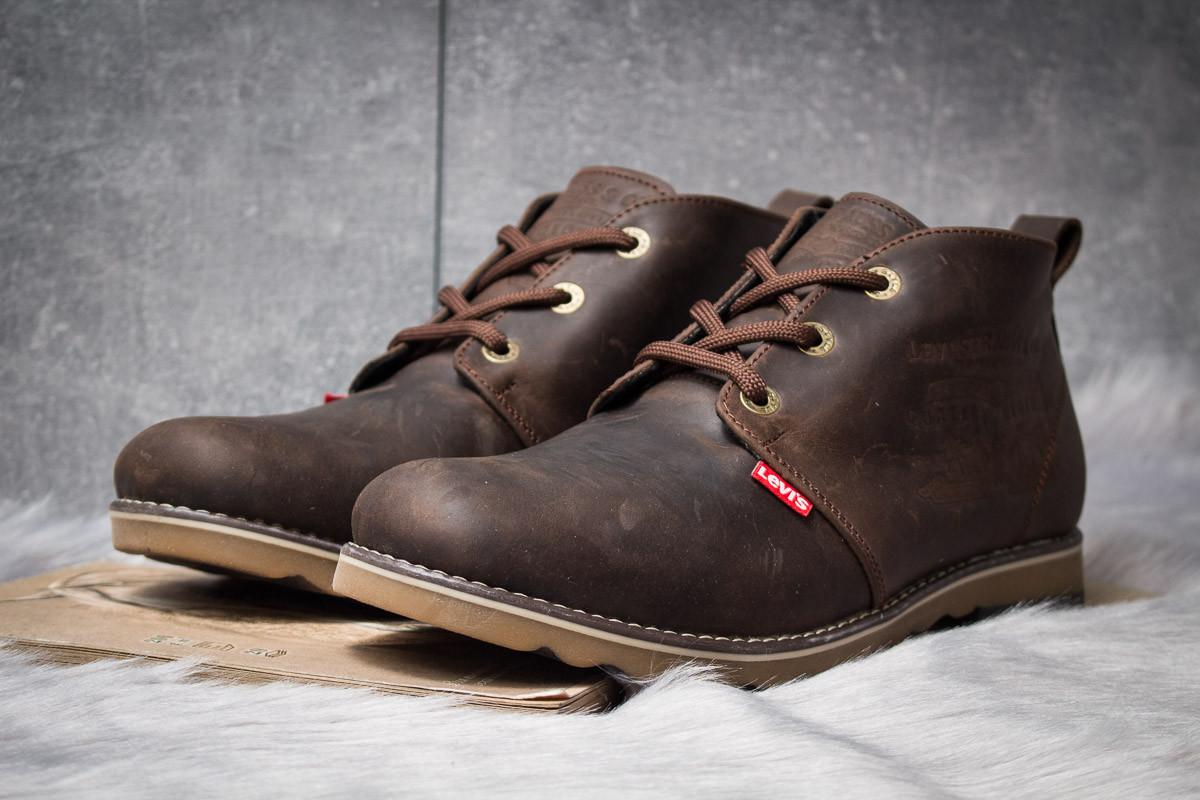 Зимние ботинки  на мехуLevi's Winter, коричневые (30602) размеры в наличии ► [  43 (последняя пара)  ]