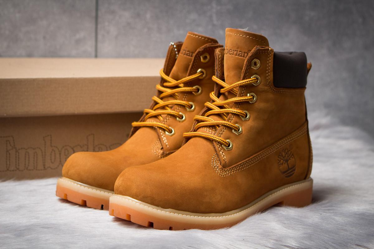 Зимние ботинки  на мехуTimberland 6 Premium Boot, рыжие (30661) размеры в наличии ► [  36 37 39 40  ]