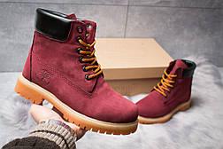 Зимние ботинки  на мехуTimberland 6 Premium Boot, бордовые (30665) размеры в наличии ► [  36 39 40  ], фото 2