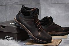 Зимние кроссовки  на мехуEcco Techmotion, коричневые (30711) размеры в наличии ► [  43 45  ], фото 3