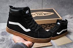 Зимние кроссовки  на меху Vans Old School Winter, черные (30724) размеры в наличии ► [  36 38  ], фото 2
