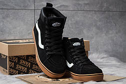Зимние кроссовки  на меху Vans Old School Winter, черные (30724) размеры в наличии ► [  36 38  ], фото 3
