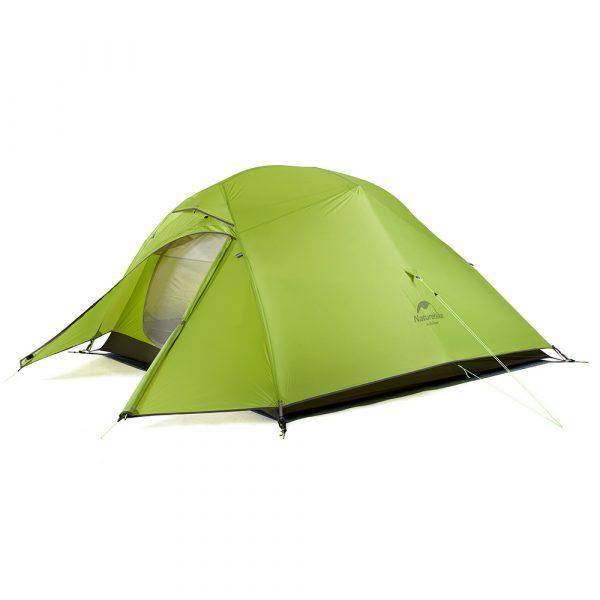 Палатка трехместная сверхлегкая Nature Hike Cloud Up Ultralight, тент силикон, вес 1,8кг (215+85)х180см