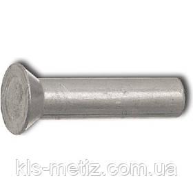 DIN 661 Заклёпка под молоток с потайной головкой алюминиевая, стальная, латунная, медная
