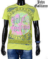 Яркая летняя футболка  John Galliano,салатовая