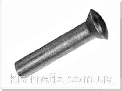 DIN 662 Заклёпка под молоток с полупотайной головкой алюминиевая, стальная, латунная, медная, фото 2
