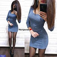 a227ab9013e Платье из стрейчевого трикотажа-резинки с U-вырезом