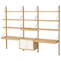 IKEA SVALNAS (191.844.62) Рабочий стол, крепиться к стене, бамбук