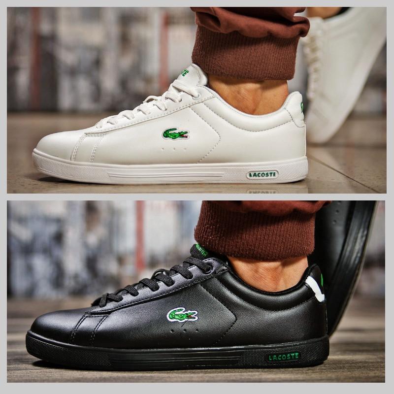 1aec9f91 Мужские кроссовки кеды Lacoste белые черные - Интернет-магазин обуви и  одежды