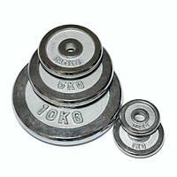 Диск хромированный 10 кг FitLogic, диаметр – 26 мм